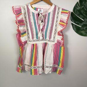 Anthropologie DRA los Angeles flowy blouse